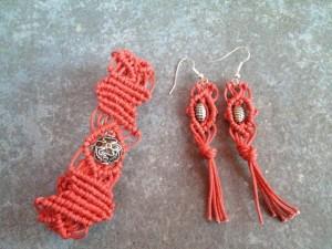 orecchini handmade macrame'