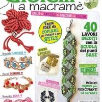 La rivista Creativa con le mie creazioni a macramè!!!!