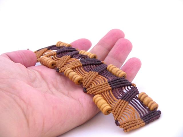 bracciale boho chic etnico tribale macrame